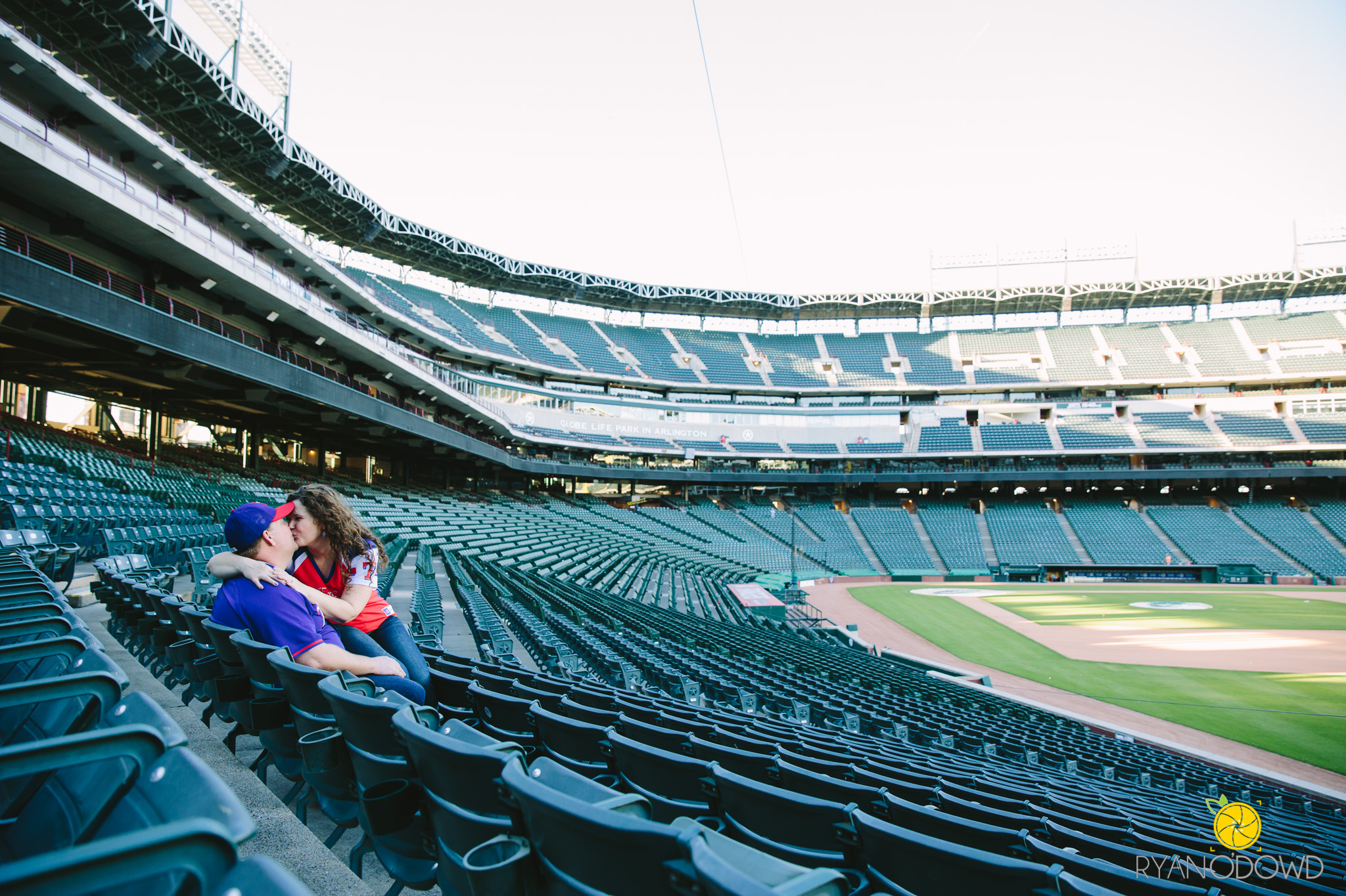 Baseball Engagement Pictures, Rangers Field