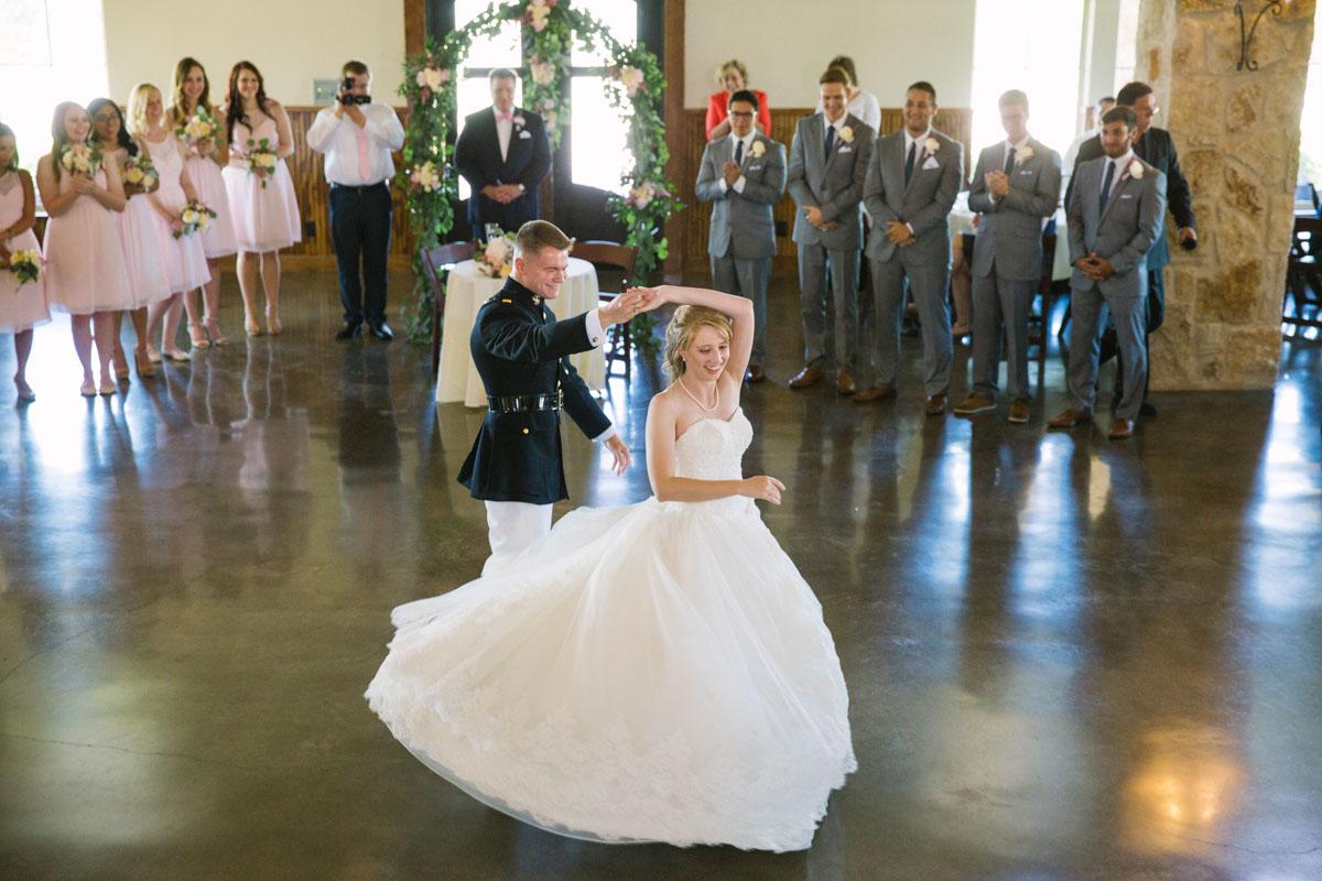 military wedding dance