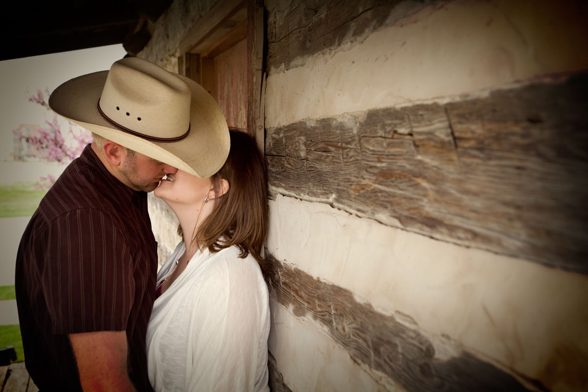 Country Couple Portraits, Rustic