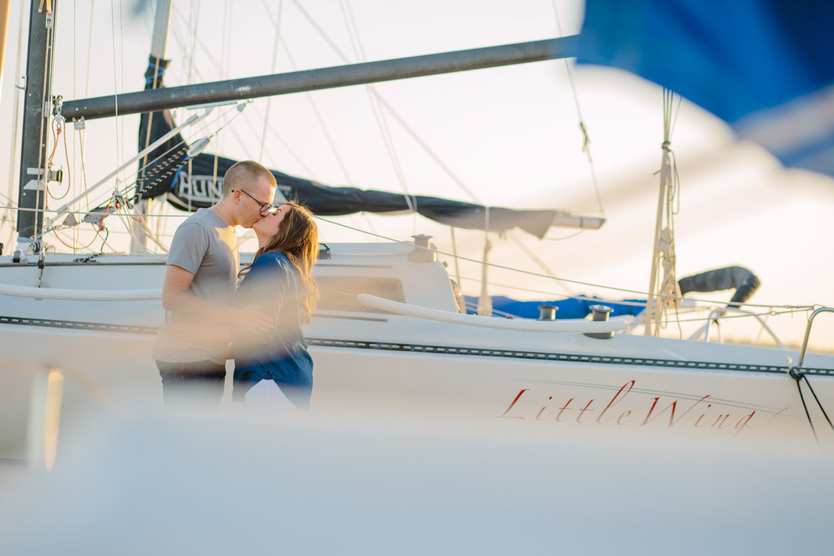 Outdoor Engagement Pictures, Nautical Themed Engagement Pictures