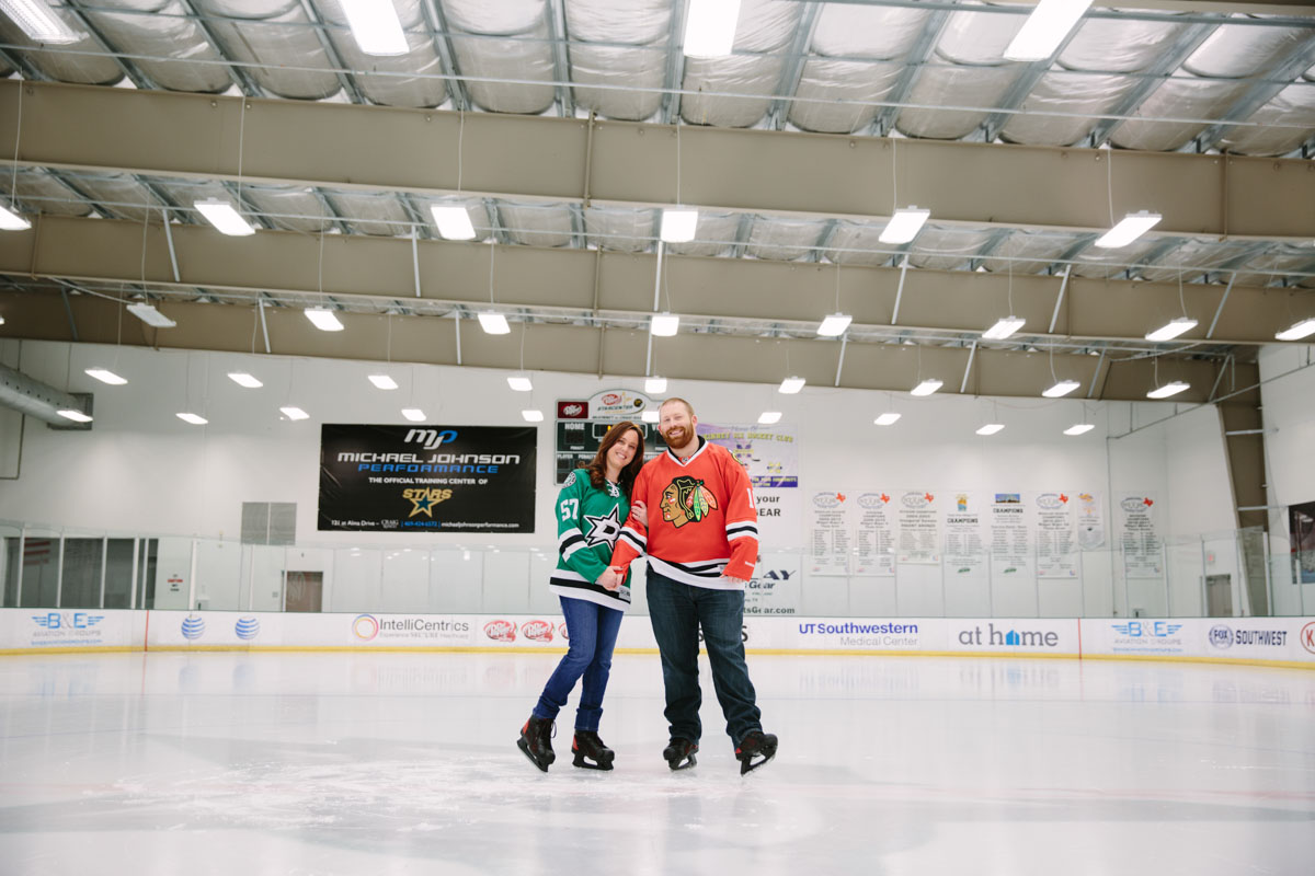 Hockey Engagement Pictures, Ice Skating