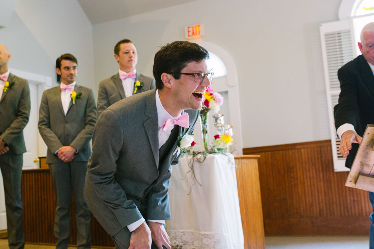 Groom's Reaction when seeing bride
