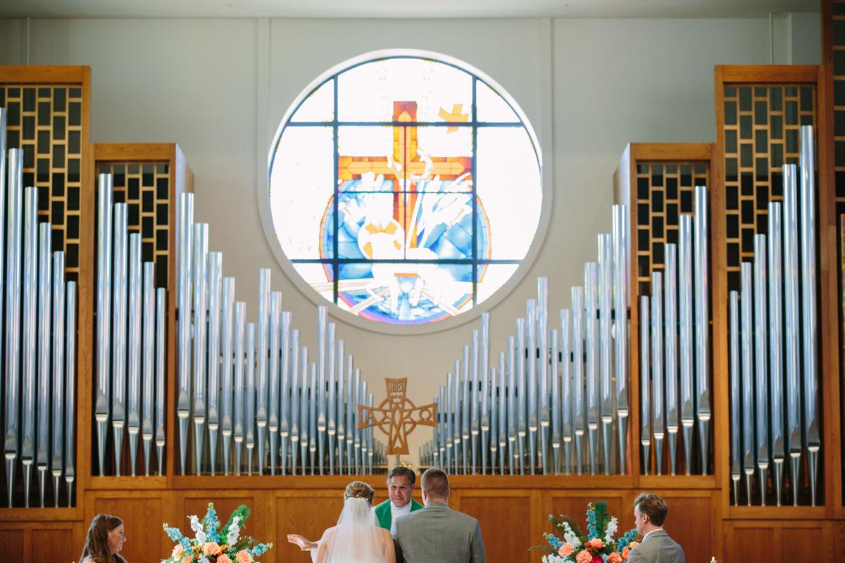 Church Wedding with organ in dallas