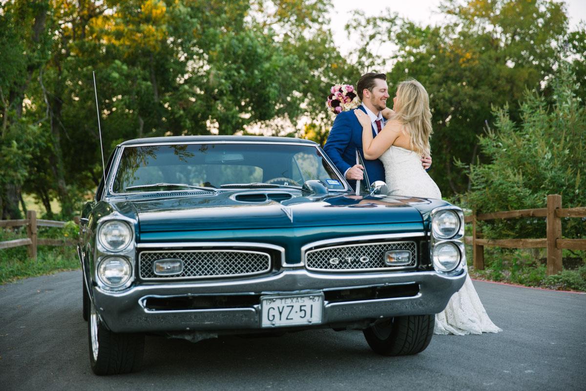 gto mustand wedding gettaway car