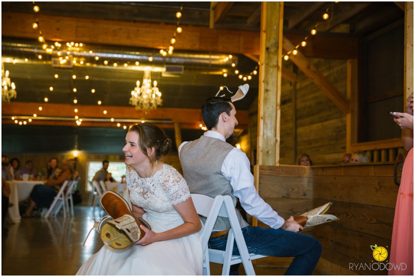 A Rainy Rustic Wedding Day