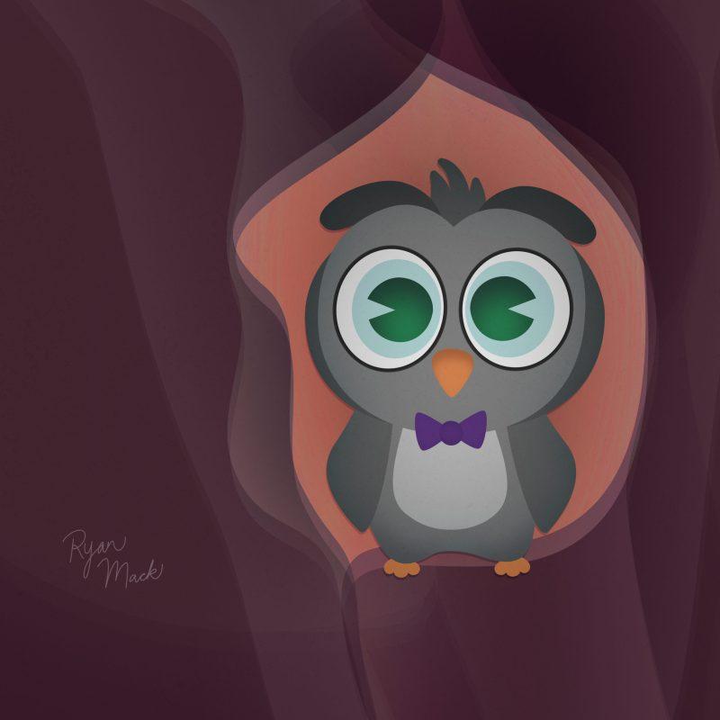 Owl Wearing a Bow Tie