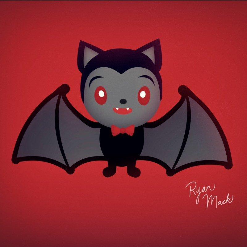 Cute Vampire Bat with Bowtie