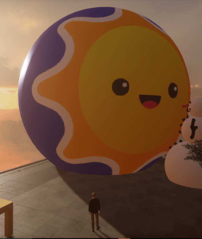 Giant Sun Ball Made in Paint 3D 13 August 2017