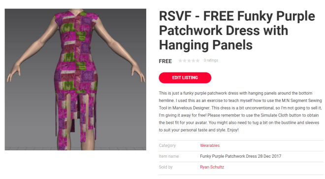 listing for funky purple patchwork dress 28 Dec 2017.png