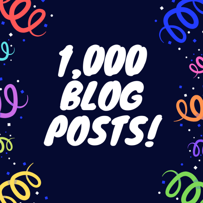 1000 Blogposts!