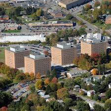 """Towers"" dormitory complex at WVU where Ryan & Joshua lived their freshman year."