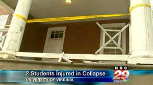 Joseph fell 17 feet when the balcony railing gave way.