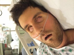 Ryan in ICU after surgery