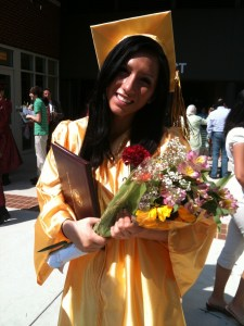 Kari's high school graduation. I watched it on my laptop via a streaming video feed.