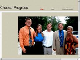 chooseprogress.net cover photo when owned by Vantrease Contingent [via domaincrawler.com]