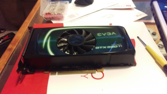 My 550Ti outside the case