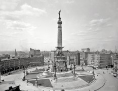 "Indianapolis, Indiana, circa 1907. ""Soldiers' and Sailors' Monument."" (Original from shorpy.com)"