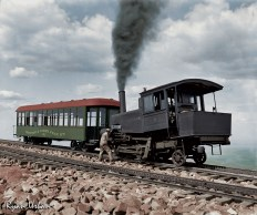 Cog Train Railway. Pike's Peak, Colorado circa 1900