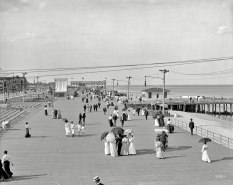 "The Jersey Shore circa 1905. ""Boardwalk at Asbury Park."" (Original from shorpy.com)"
