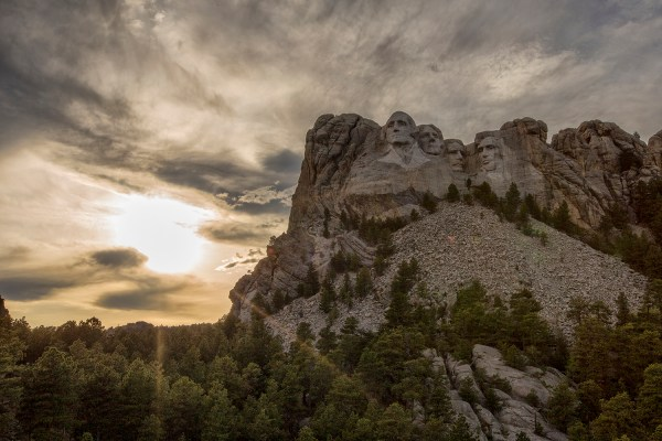 Mount Rushmore sunset