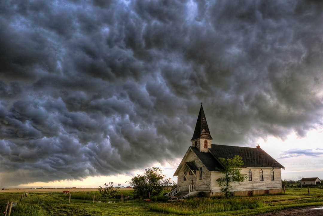 Saskatchewan abandoned church storm, Canadian storm chaser