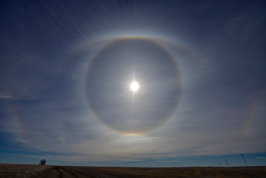 Sun Halo Saskatchewan eye of god ryan wunsch