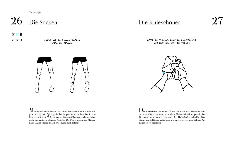 Leseprobe Volleyballett Socken und Knieschoner