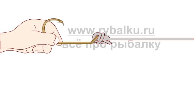 釣りノード - フックペンの写真5を綴じる方法5