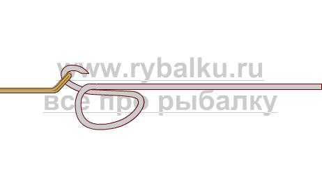 釣りノード - フックダンカナループ写真を綴じる方法1