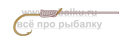 釣りノード - フックリーシュ写真3を綴じる方法3