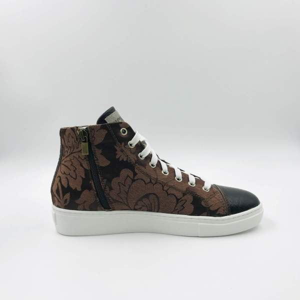 Silk damask with Hammered leather RYC & RICH-YCLED Handmade Shoes From Italy