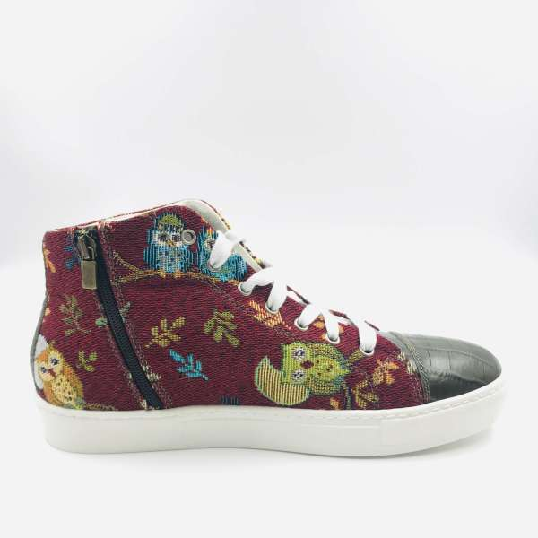 Leaves and Birds Gobelin with Juniper green coco leather RYC & RICH-YCLED Handmade Shoes From Italy €300