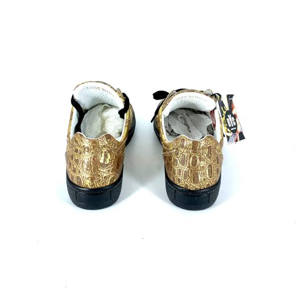full Gold coco leather RYC & RICH-YCLED Handmade Shoes From Italy €275
