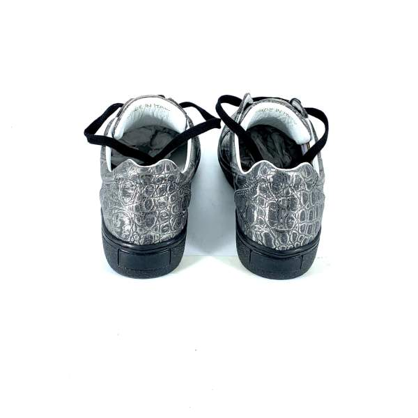 Full silver coco leather RYC & RICH-YCLED Handmade Shoes From Italy €275