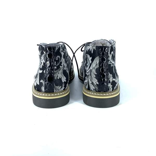 Black'n white damascato with shiny black coco leather RYC & RICH-YCLED Handmade Shoes From Italy €250