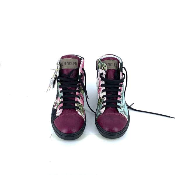 MULTIFLOWER GOBELIN WITH burgundy branded LEATHER RYC & RICH-YCLED Handmade Shoes From Italy €290
