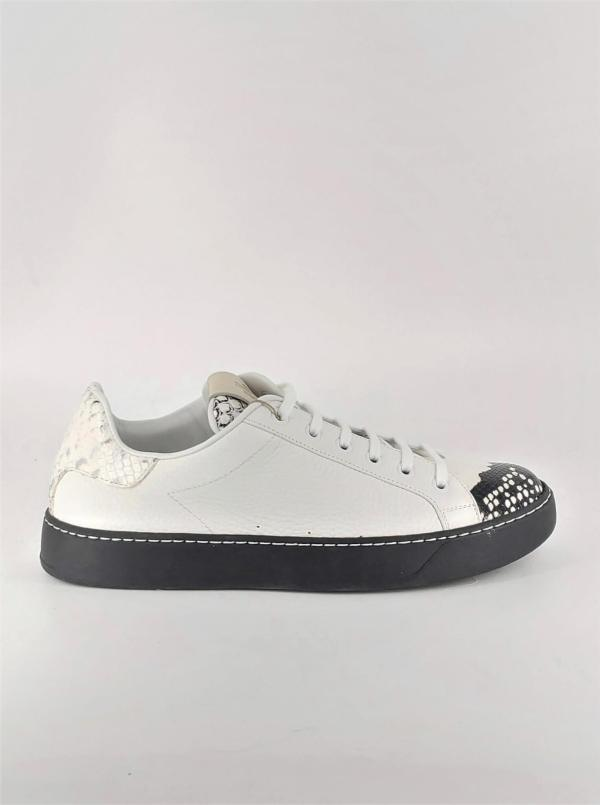 White leather with Multi brown tex leather RYC & RICH-YCLED Handmade Shoes From Italy €179
