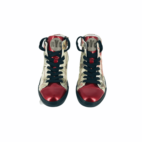 Soft floral damascato with ruby red leather RYC & RICH-YCLED Handmade Shoes From Italy 275€