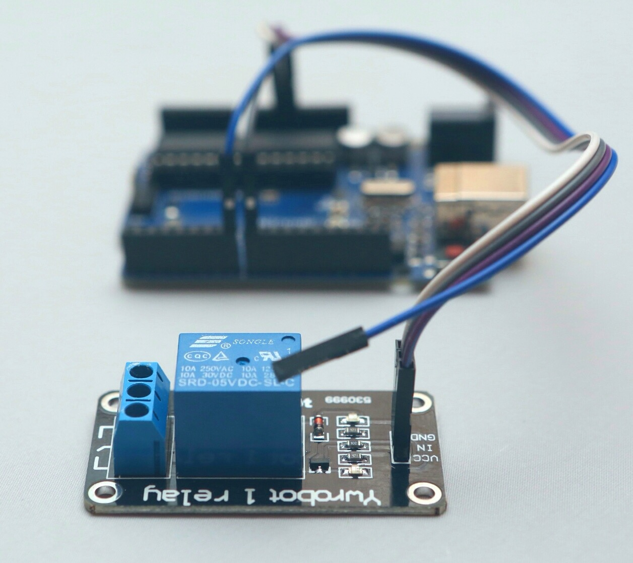 hight resolution of simple relay operation with arduino