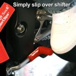 Red rubber shift sock