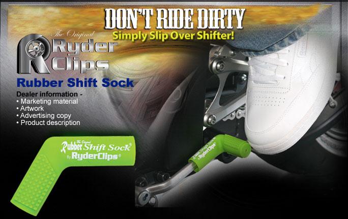 Rubber shift sock dealer banner