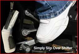 Silver installed shift sock