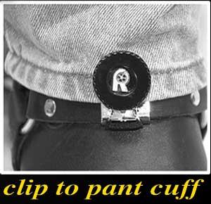 Stirrup clip to pant cuff
