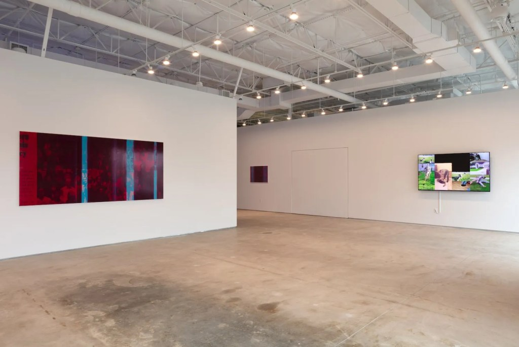 Installation view of Emmanuel Van der Auwera's White Noise at 214 Projects, Dallas