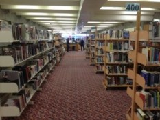 The public Library: well used, and free wifi!