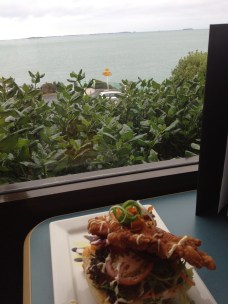 Lunch with a view! (of the famous Lands End sign!)