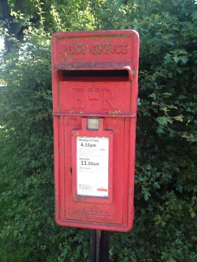post box, UK style