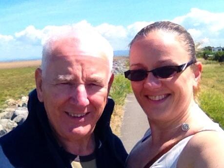 Sea wall selfie!