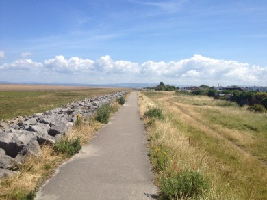 Knott End sea wall