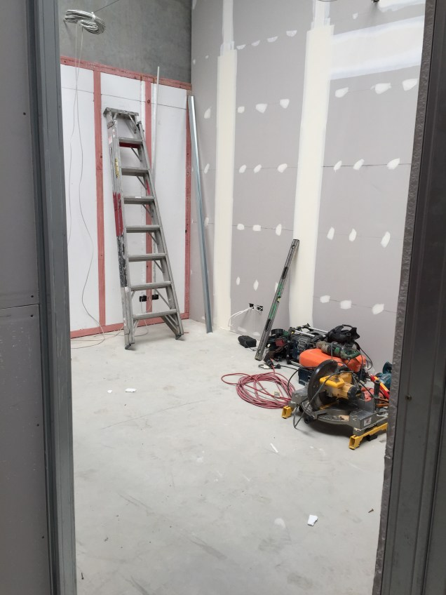 Walls starting to go up